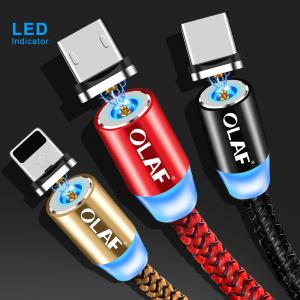 Cablu USB Textil Fast Charge cu Mufa Magnetica 360°15