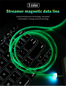Cablu USB Fast Charge cu Mufa Magnetica 360° & Full LED9