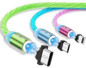 Cablu USB Fast Charge cu Mufa Magnetica 360° & Full LED0