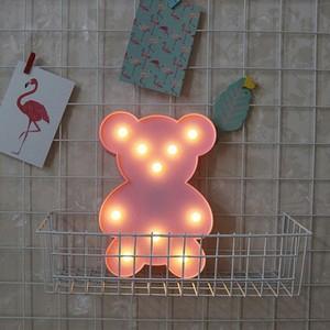 Lampa de Veghe cu Lumina Ambientala cu 10 Becuri LED Lumina Calda - Ursulet, Roz [0]