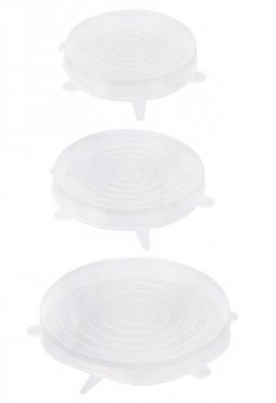 Set 3 Capace din Silicon Flexibile pentru Oale, Cratite, Caserole si Alimente, 6 cm, 12cm, 16cm, Premium [7]