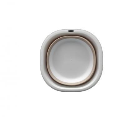 Castorn Pliabil Multifunctional din Silicon si PVC, 27cm, Alb, Premium [1]