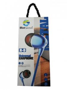 Casti Audio Blue Spectrum R5 Stereo cu Fir & Sunet Fin si Clar cu Bass Puternic [2]