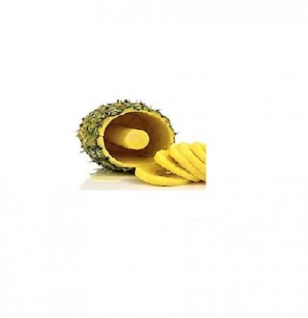 Feliator pentru Ananas, pentru Taiat Rondele in Spirala, din PVC Premium, Alb [4]