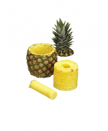 Feliator pentru Ananas, pentru Taiat Rondele in Spirala, din PVC Premium, Alb [5]