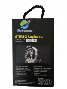Casti Audio Blue Spectrum cu Fir Sunet Fin si Clar cu Bass Puternic Stereo M2 [3]