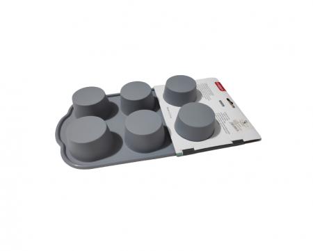 Forma din Silicon pentru Briose si Prajituri, Non-Stick, Gri, Design Deosebit si Calitate Premium [2]