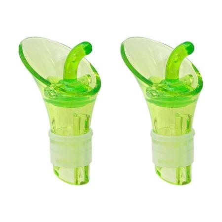 Set 2 Dopuri din PVC pentru Sticle, Model Premium Universal, Verde [0]