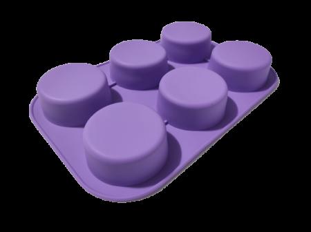Forma pentru Briose si Prajituri din Silicon Non-Stick, Mov, Calitate Premium [3]