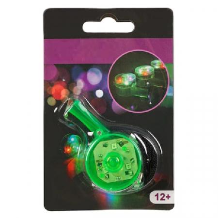 Fluier Puternic cu Lumina LED si Snur pentru Sport si Arbitrii de Fotbal, Handbal, Basket, Premium, Verde [1]