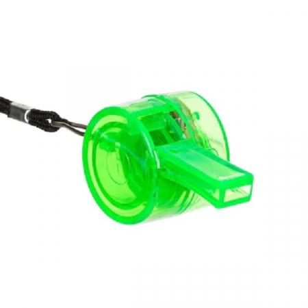 Fluier Puternic cu Lumina LED si Snur pentru Sport si Arbitrii de Fotbal, Handbal, Basket, Premium, Verde [0]