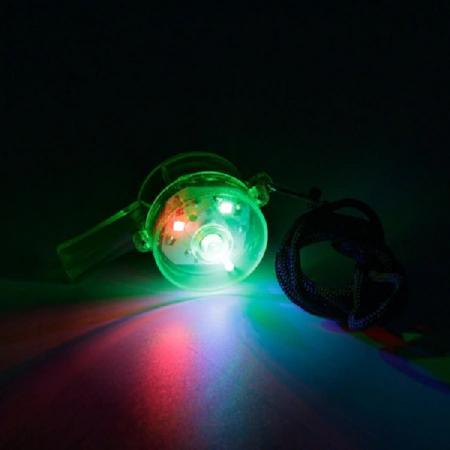 Fluier Puternic cu Lumina LED si Snur pentru Sport si Arbitrii de Fotbal, Handbal, Basket, Premium, Verde [2]