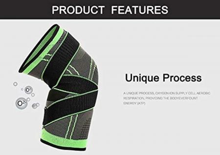 Genunchiera pentru Protectie Genunchi si Picior, Supraelastica pentru Sportivi si Atleti, Premium, Original Deals® [11]
