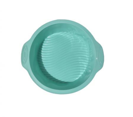 Forma pentru Prajituri si Dulciuri, din Silicon Non-Stick, 25cm, Turcoaz, Calitate Premium [2]