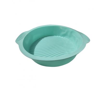 Forma pentru Prajituri si Dulciuri, din Silicon Non-Stick, 25cm, Turcoaz, Calitate Premium [3]
