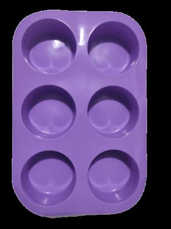 Forma pentru Briose si Prajituri din Silicon Non-Stick, Mov, Calitate Premium [4]