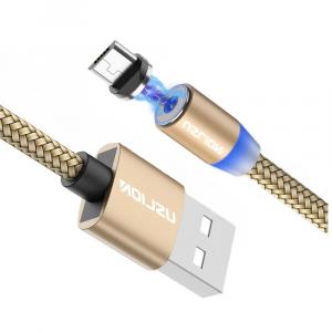 Cablu USB Textil Fast Charge cu Mufa Magnetica 360° - USLION16