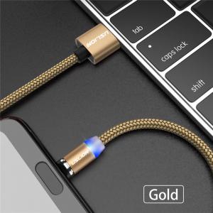 Cablu USB Textil Fast Charge cu Mufa Magnetica 360° - USLION18