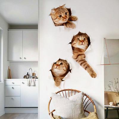 Sticker Autocolant Decorativ pentru Multiple Suprafete cu 3 Pisici Simpatice [5]