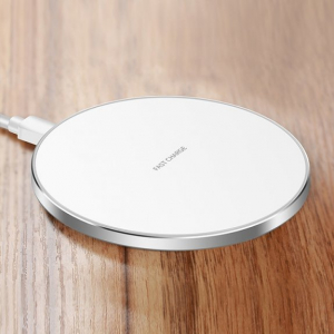 Incarcator Wireless Fast Charge Ultra-Slim Qi Compatibil Android IOS 1.2A - Alb5
