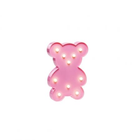 Lampa de Veghe cu Lumina Ambientala cu 10 Becuri LED Lumina Calda - Ursulet, Roz [5]
