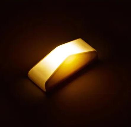 Set 2 Lampi LED cu Senzor de Lumina, pentru Iluminat Scari, Trepte, Mobila, Pereti, cu Baterii, Alb [3]