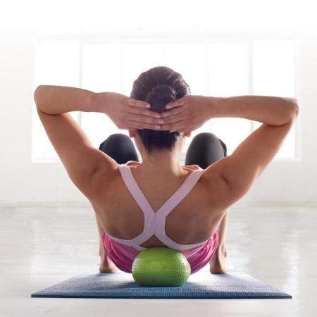 Minge Accesoriu pentru Exercitii Pilates, Fitness, Aerobic, Yoga, Gonflabila, Rezistenta 85 Kg, Premium, Verde, Original Deals1