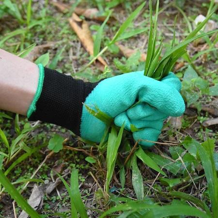 Manusi pentru Gradinarit cu 4 Gheare din PVC, pentru Greblat, Plantat, Sapat5