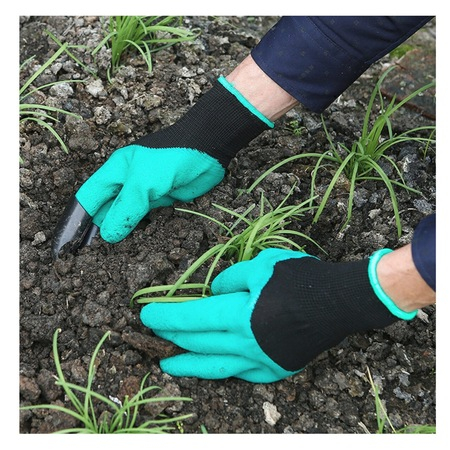 Manusi pentru Gradinarit cu 4 Gheare din PVC, pentru Greblat, Plantat, Sapat3