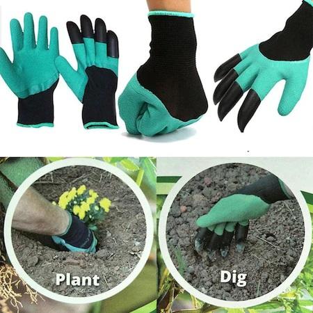 Manusi pentru Gradinarit cu 4 Gheare din PVC, pentru Greblat, Plantat, Sapat2