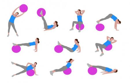 Minge Medicinala pentru Exercitii Fitness, Aerobic, Pilates, Yoga, Gonflabila, Premium 20cm, Rezistenta 100Kg [11]