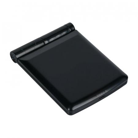 Mini Oglinda Portabila pentru Cosmetica, Make Up si Machiaj, cu 8 LED Integrate, Wireless, cu Baterie Inclusa, Negru2