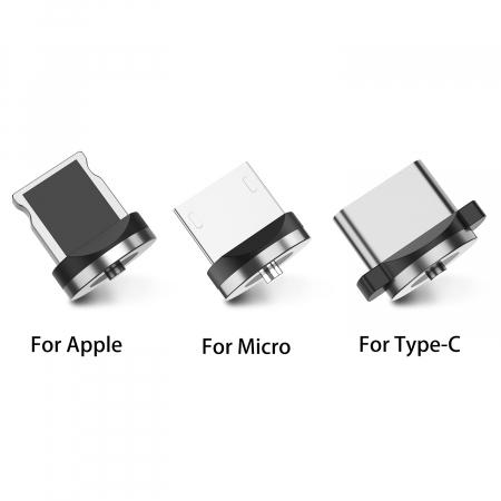 Mufa Magnetica cu Rotire 360° Pentru Cabluri USB cu incarcare Rapida si Transfer de Date 480MB/s, Noua Generatie7