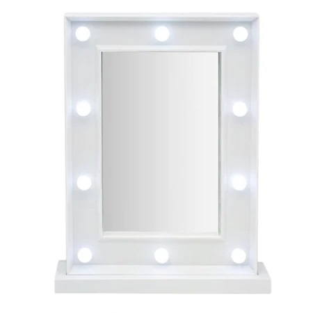 Oglinda de Masa cu 10 Becuri LED, Wireless, cu Baterii pentru Make Up si Machiaj, Buton On/Off, Premium 30cm x 37.5cm1