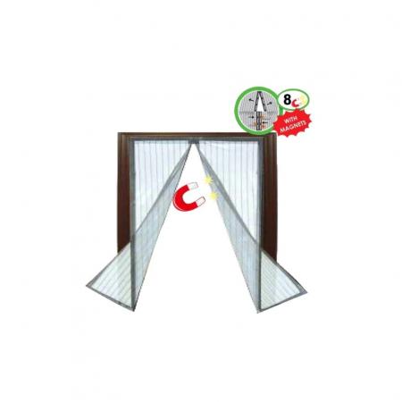 Plasa cu Magnet pentru Fereastra impotriva Tantarilor, Mustelor si a Insectelor Zburatoare, 120 x 120cm, Negru [2]