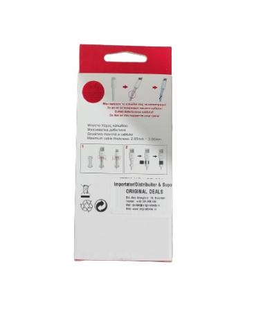 Set 6 Clipsuri pentru Protectie Antirupere Cabluri, Premium, Multicolor [2]