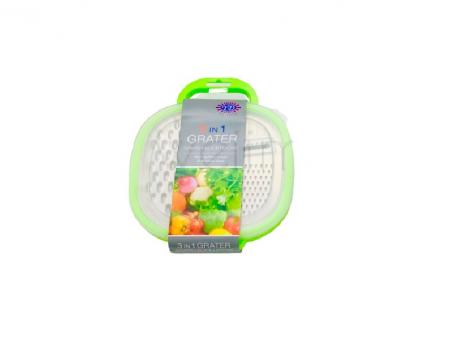 Razatoare 3in1 cu Bol pentru Legume si Fructe, PVC cu Calitate Premium, Verde [2]