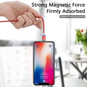 Cablu USB Textil Fast Charge cu Mufa Magnetica 360° - USLION32