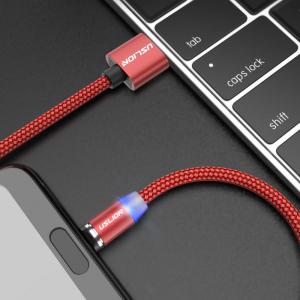 Cablu USB Textil Fast Charge cu Mufa Magnetica 360° - USLION33
