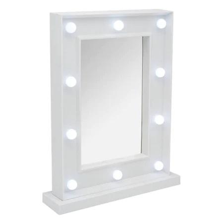 Oglinda de Masa cu 10 Becuri LED, Wireless, cu Baterii pentru Make Up si Machiaj, Buton On/Off, Premium 30cm x 37.5cm0