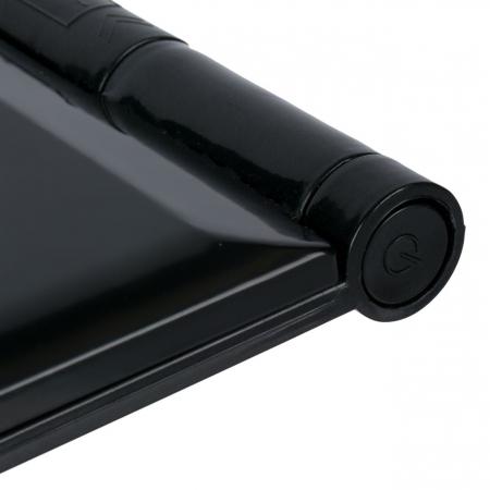 Mini Oglinda Portabila pentru Cosmetica, Make Up si Machiaj, cu 8 LED Integrate, Wireless, cu Baterie Inclusa, Negru3