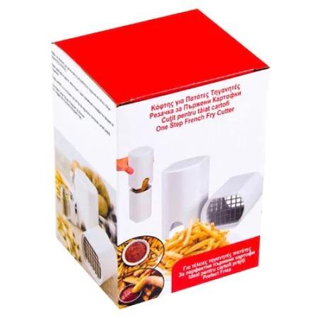 Aparat Cutit Multifuntional pentru Taiat Cartofi Pai, Legume sau Fructe, Ergonimic si Eficient, Alb, ABS [6]