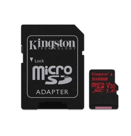 Card de Memorie Micro SD 512 GB, Compatibil Telefon, Tableta, Camera Foto si Video, Console Jocuri, Model Premium, Kingston [4]