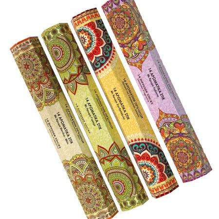 Set 56 Betisoare Parfumate cu 4 Arome Diferite pentru Aromaterapy si Relaxare, Iasomie, Vanilie si Miere, Santal, Lavanda, Original Deals® [2]
