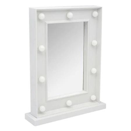 Oglinda de Masa cu 10 Becuri LED, Wireless, cu Baterii pentru Make Up si Machiaj, Buton On/Off, Premium 30cm x 37.5cm3