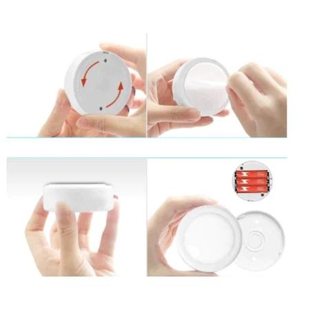 Set 2 Spoturi pentru Lumina Veghe, Becuri LED cu Telecomanda pentru Reglajul Culorilor, cu Baterii, Alb [4]