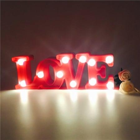 Lampa de Veghe cu Lumina Ambientala cu 11 Becuri LED Lumina Calda, Rosu - Love cu Lumini2
