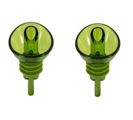 Set 2 Dopuri din PVC pentru Sticle de Ulei Masline si Ulei Floarea Soarelui, Model Premium Universal, Verde [0]