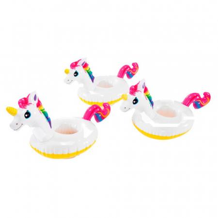 Set 3 Bucati Suport Gonflabil Plutitor pentru Apa si Piscina, Compatibil Doza sau Pahar, Unicorn Premium [5]