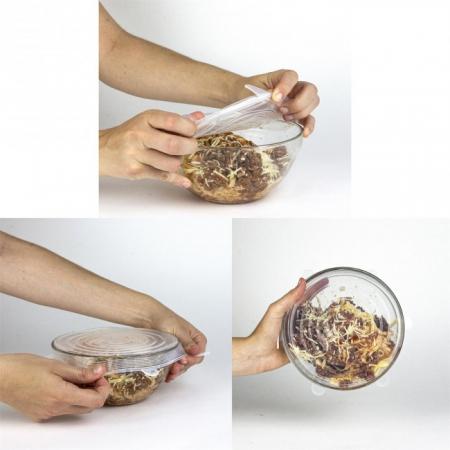 Set 3 Capace din Silicon Flexibile pentru Oale, Cratite, Caserole si Alimente, 6 cm, 12cm, 16cm, Premium [5]